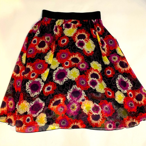 LulaRoe Lola multicolored skirt size S NWT